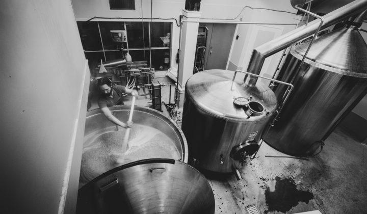 Swans beer brewery tanks