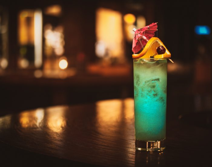Swans Blue Hawaiian Cocktail