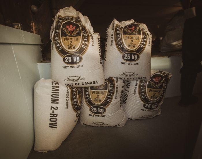 25kg bags of hops
