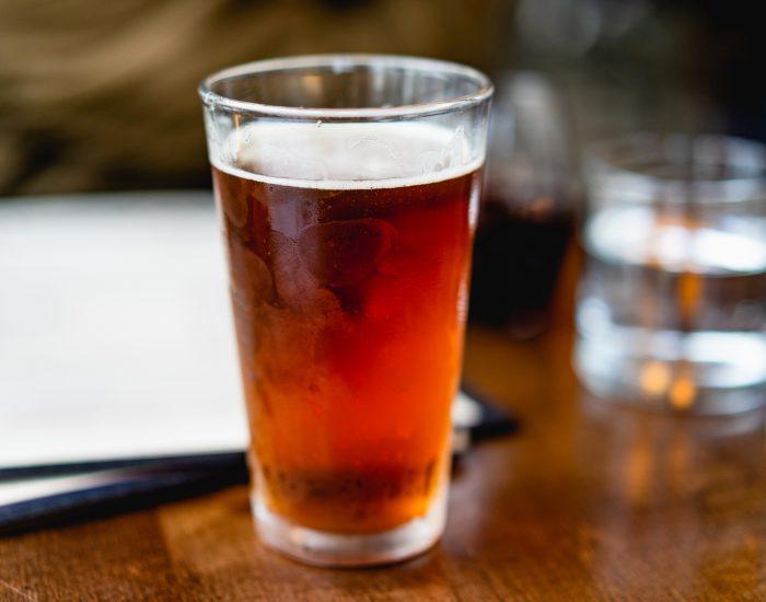 Dark beer glass